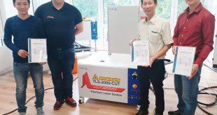 Chứng nhận đào tạo nguồn laser fiber IPG